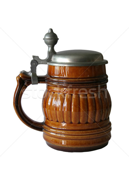 mug of beer isolated Stock photo © Hochwander