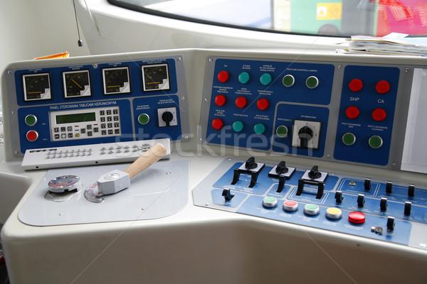 állomás darab modern vonatok asztali számítógép Stock fotó © Hochwander