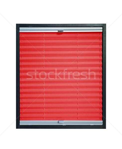 Vak piros szín izolált fehér terv Stock fotó © Hochwander