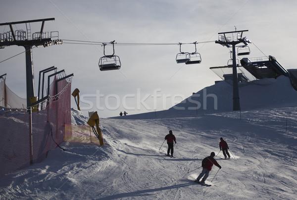 Sí lift olasz égbolt hegy tél Stock fotó © Hochwander
