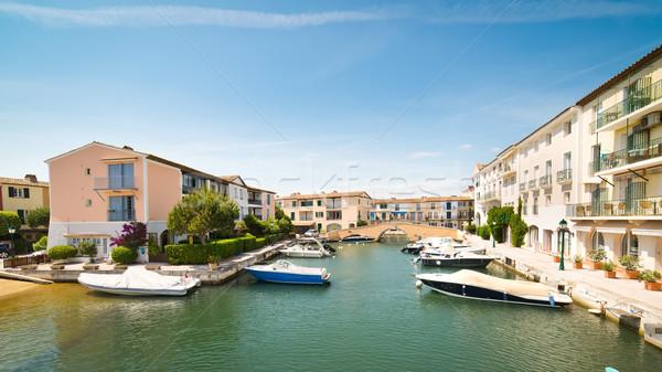 Сток-фото: порта · французский · Венеция · небе · воды · дома