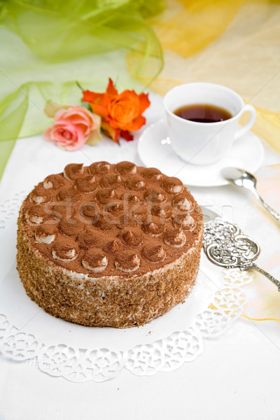 delicious cake Stock photo © Hochwander