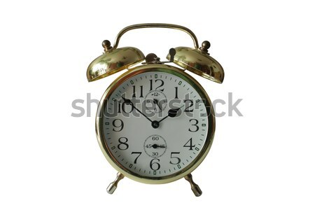 old alarm clock with clipping paths Stock photo © Hochwander