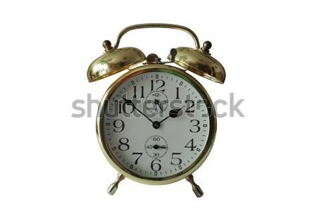 öreg ébresztőóra fehér üzlet arc idő Stock fotó © Hochwander
