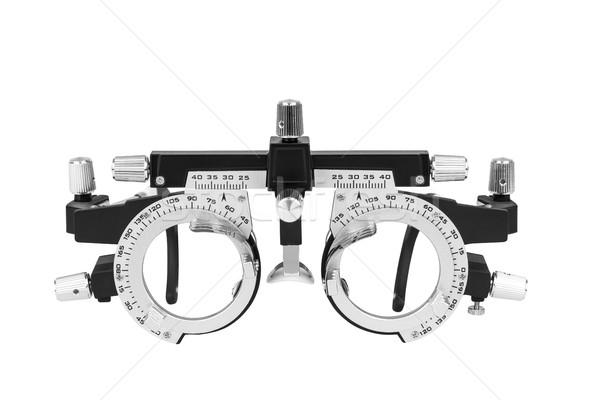 クローズアップ 視力検査 眼鏡 白 ツール ケア ストックフォト © Hochwander