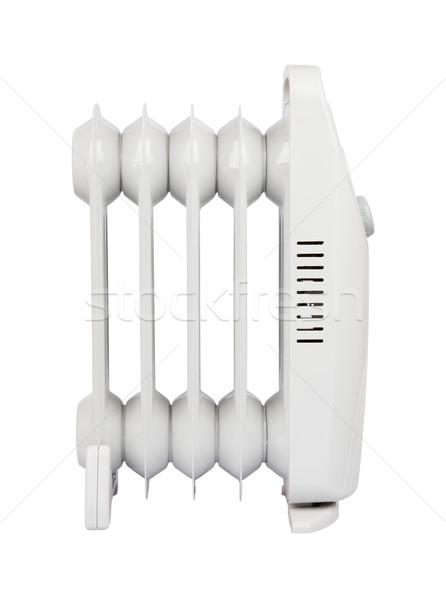 Pequeno elétrico aquecedor isolado branco Foto stock © Hochwander