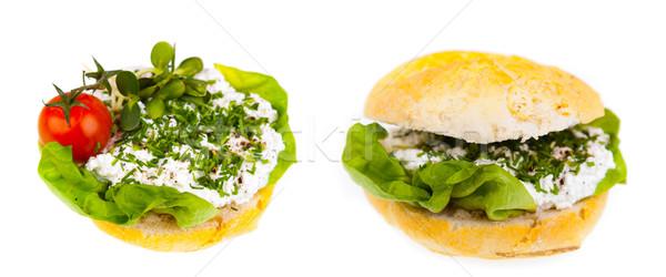 здорового сэндвич два фотографий изолированный Сток-фото © Hochwander