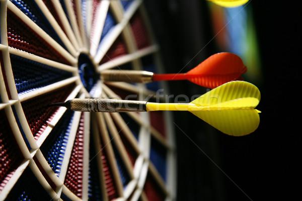 dart board with three darts Stock photo © Hochwander