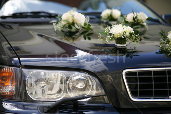 decorated wedding car Stock photo © Hochwander