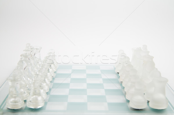 Stock photo: glass chess