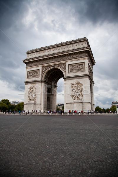 Arc de Triomphe arc triomphe ciel bâtiment Photo stock © Hochwander