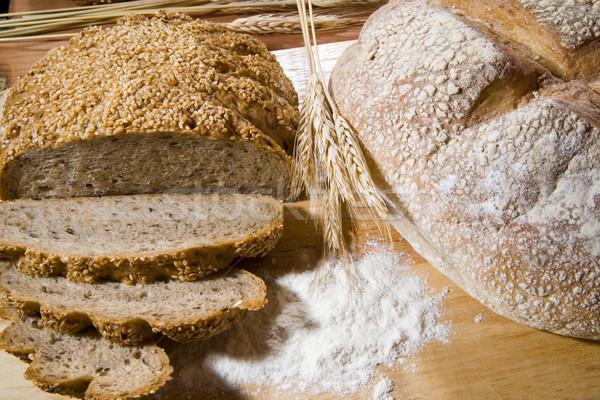 Kettő kenyér búza kút étel természet Stock fotó © Hochwander