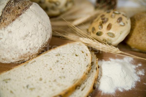 Сток-фото: свежие · различный · хлеб · кислый · пшеницы · голову