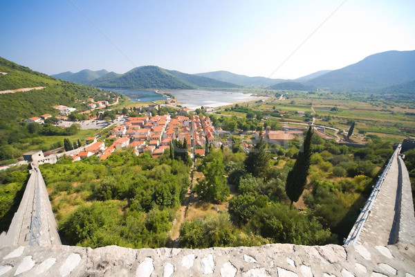view from Stone fortress on the city Stock photo © Hochwander