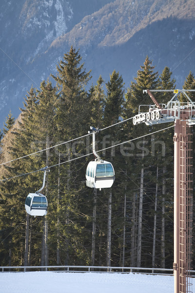 Ski gondola in Italian Dolomites Stock photo © Hochwander