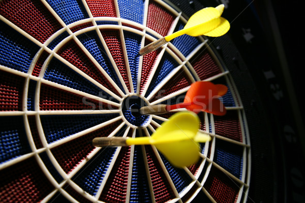 dart boart with three darts Stock photo © Hochwander