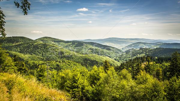 Görmek dağlar manzara güzellik yaz bulut Stok fotoğraf © Hochwander