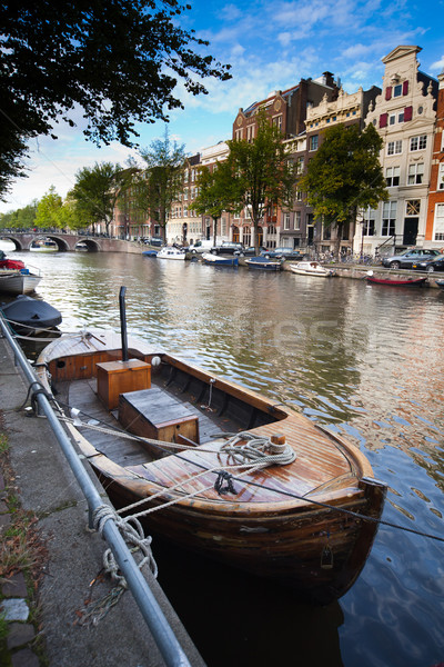 Amsterdam foto een hemel water huis Stockfoto © Hochwander
