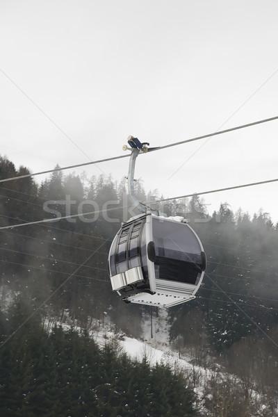 гондола итальянский зима праздников пейзаж лыжных Сток-фото © Hochwander