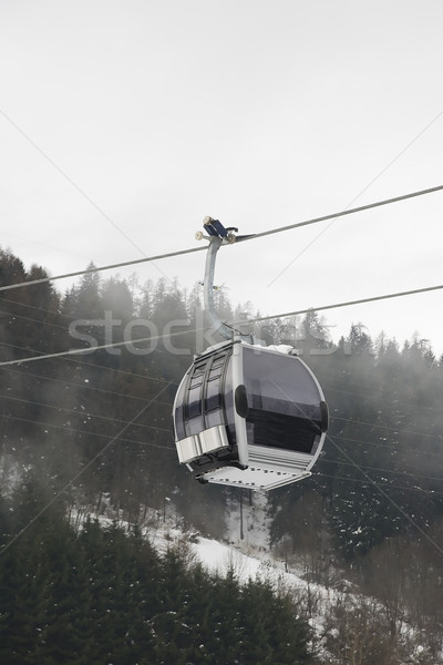 Gondol İtalyan kış tatil manzara Kayak Stok fotoğraf © Hochwander