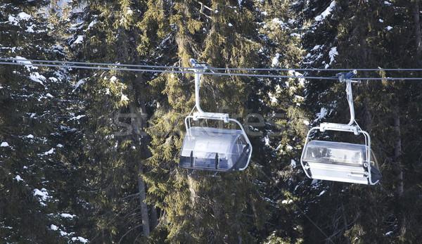 Kayak gondol İtalyan ağaç spor dağ Stok fotoğraf © Hochwander