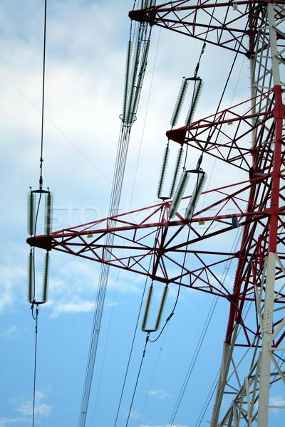 Power line Stock photo © Hochwander