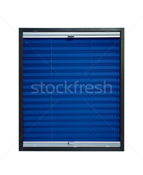 Pleated blind dark navy blue color Stock photo © Hochwander