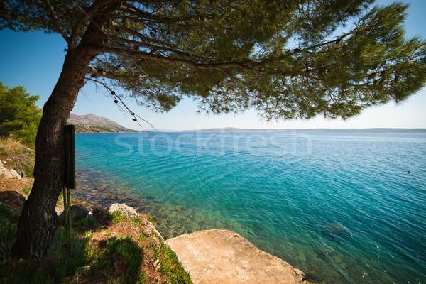 Seashore in Croatia Stock photo © Hochwander