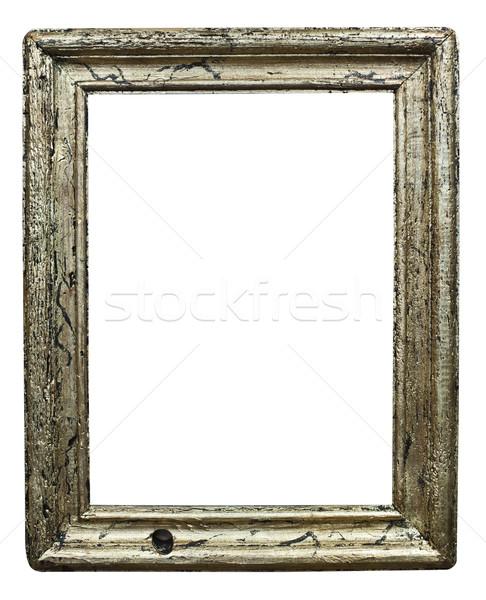 Yalıtılmış ahşap çerçeve dizayn sanat bağbozumu antika Stok fotoğraf © Hochwander