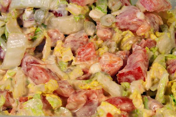 Grieks salade kaas ontbijt tomaat eten Stockfoto © Hochwander