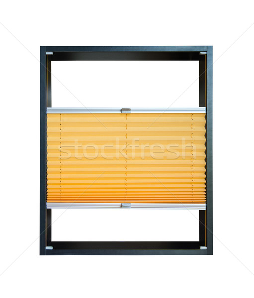Pleated blind partially opened - yellow color Stock photo © Hochwander