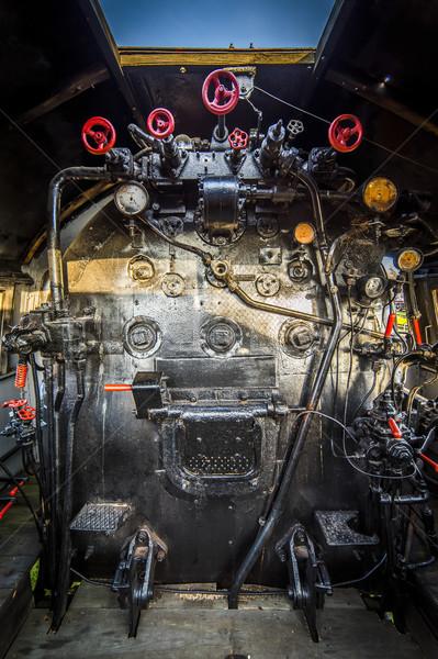Motor kamer stoomlocomotief detail technologie industrie Stockfoto © Hochwander
