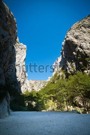 Dağlar park kanyon gökyüzü dağ Stok fotoğraf © Hochwander