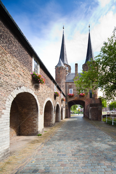 East Gate in Delft - Holland Stock photo © Hochwander