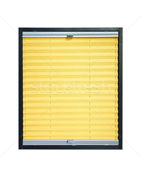 Pleated blind - yellow color Stock photo © Hochwander