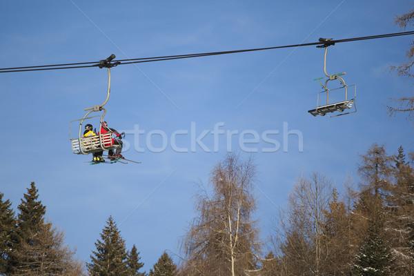 Kayak asansör İtalyan gökyüzü spor dağ Stok fotoğraf © Hochwander