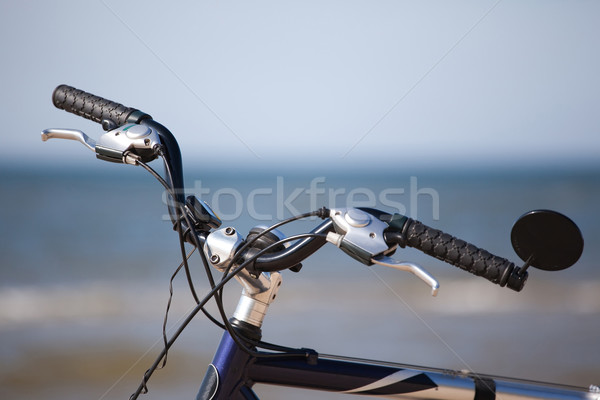 bike handlebar wheel over see horizon Stock photo © Hochwander