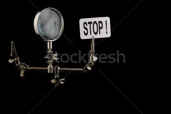 Figura acero hombre parada negro Foto stock © Hochwander