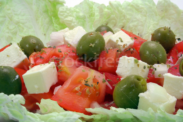 greek salad closeup Stock photo © Hochwander