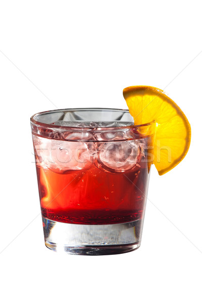 Cocktail with grenadine juice and lemon isolated on white Stock photo © Hochwander