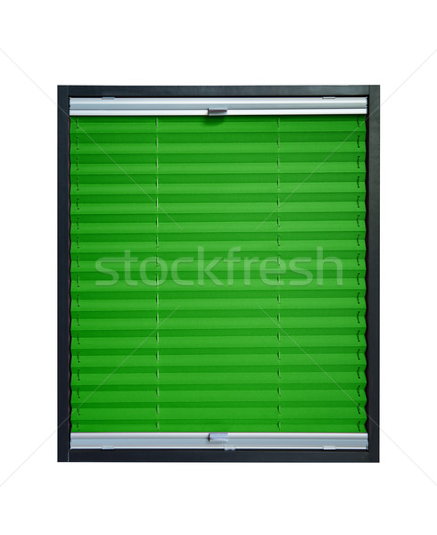Pleated blind - dark green color Stock photo © Hochwander