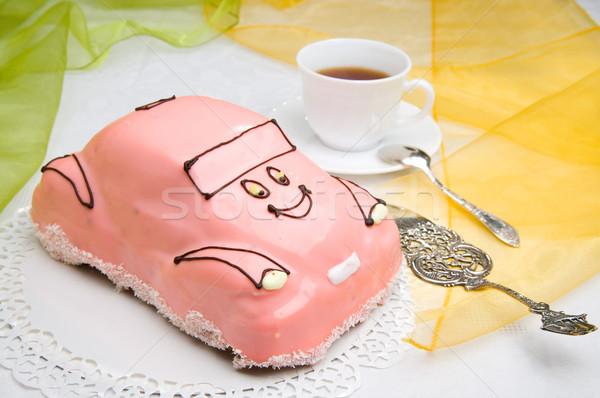 Photo stock: Voiture · gâteau · tasse · café · sweet · délicieux