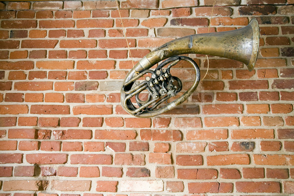 old music instrument on the wall Stock photo © Hochwander