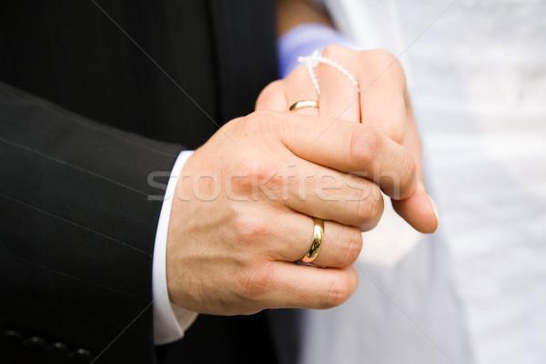 Alyans evlilik iki aşıklar eller Stok fotoğraf © Hochwander