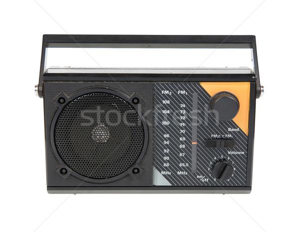 старые радио изолированный белый фон СМИ Сток-фото © Hochwander