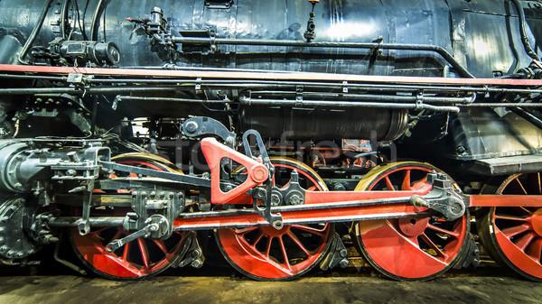 Oude stoomlocomotief motor huis technologie trein Stockfoto © Hochwander