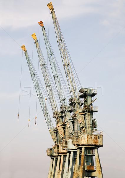 big cranes in the harbour Stock photo © Hochwander