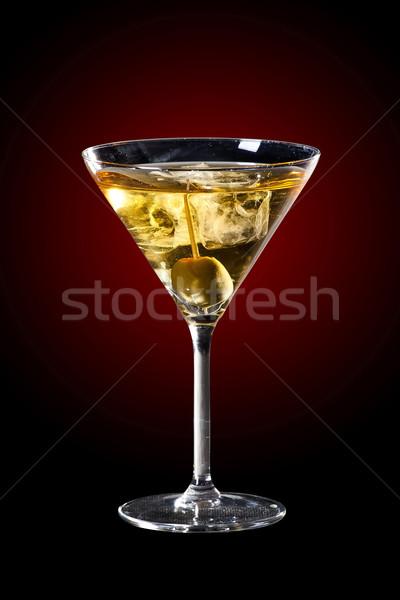 Oliva martini coquetel delicioso beber Foto stock © Hochwander