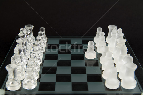 glass chess - let's play Stock photo © Hochwander