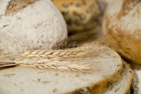 crispy bread with sour and wheat head Stock photo © Hochwander